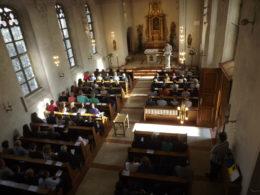 Begrüßung in der Bredenkirche durch den Schulleiter M. Koch